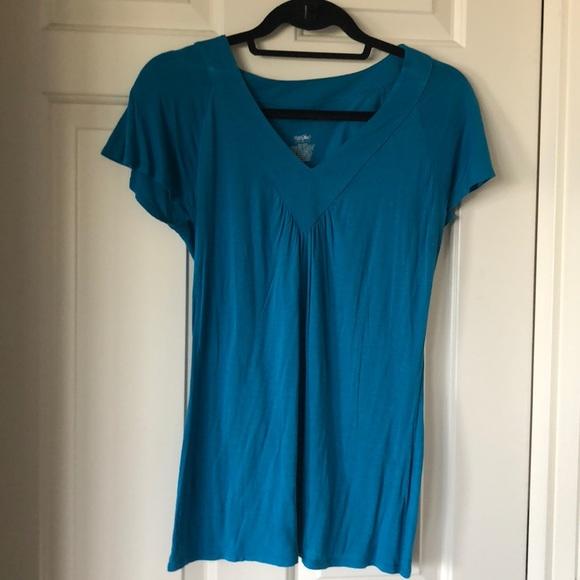 14b373c3 Mossimo Supply Co. Tops | Turquoise Vneck Shirt | Poshmark